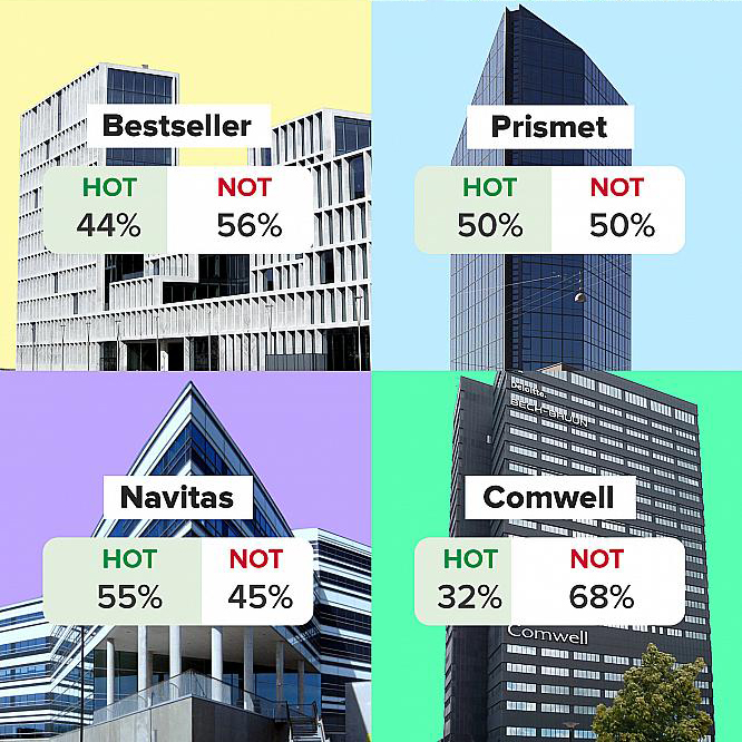 Hot or Not building poll