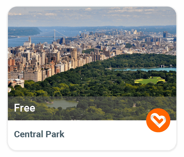 Central Park with price and description