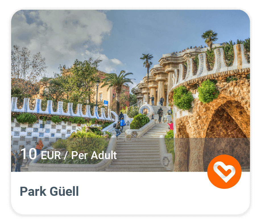 Park Güell with price and description
