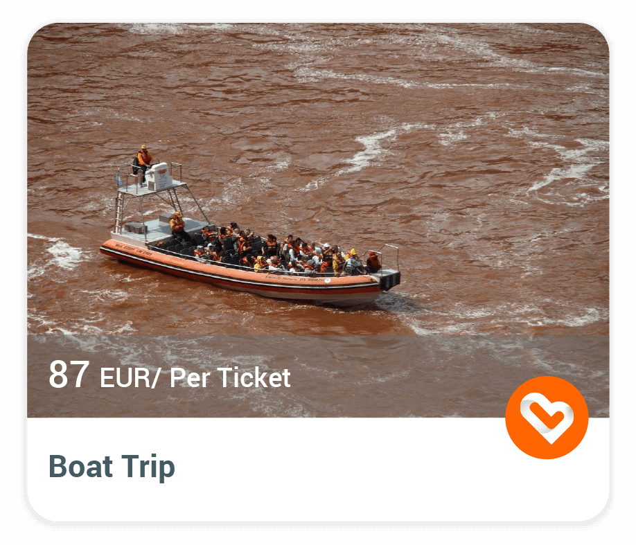 Boat Trip in Iguazu Falls with price and description