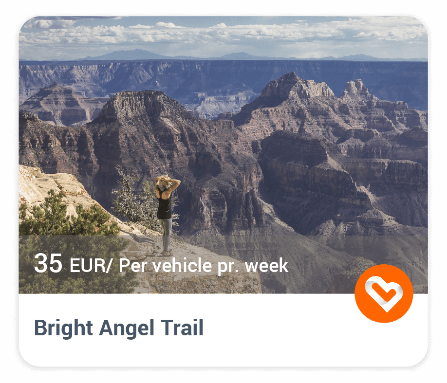 Bright Angel Trail in Grand Canyon with price and description