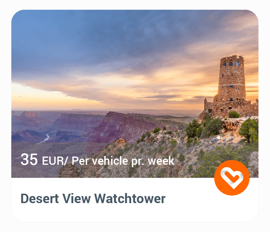 Desert View Watchtower in Grand Canyon with price and description