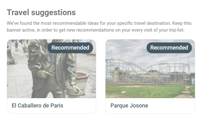 Travel suggestions